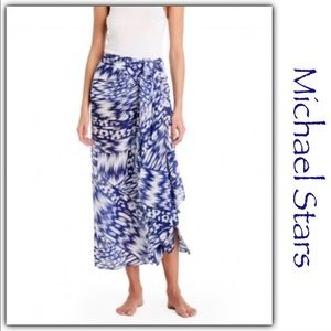 Blue & White Michael Stars Sarong/Scarf